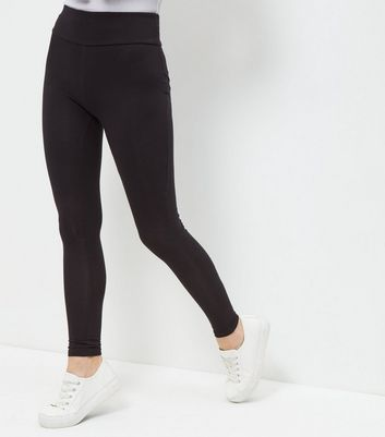 Petite Black High Waisted Leggings New Look