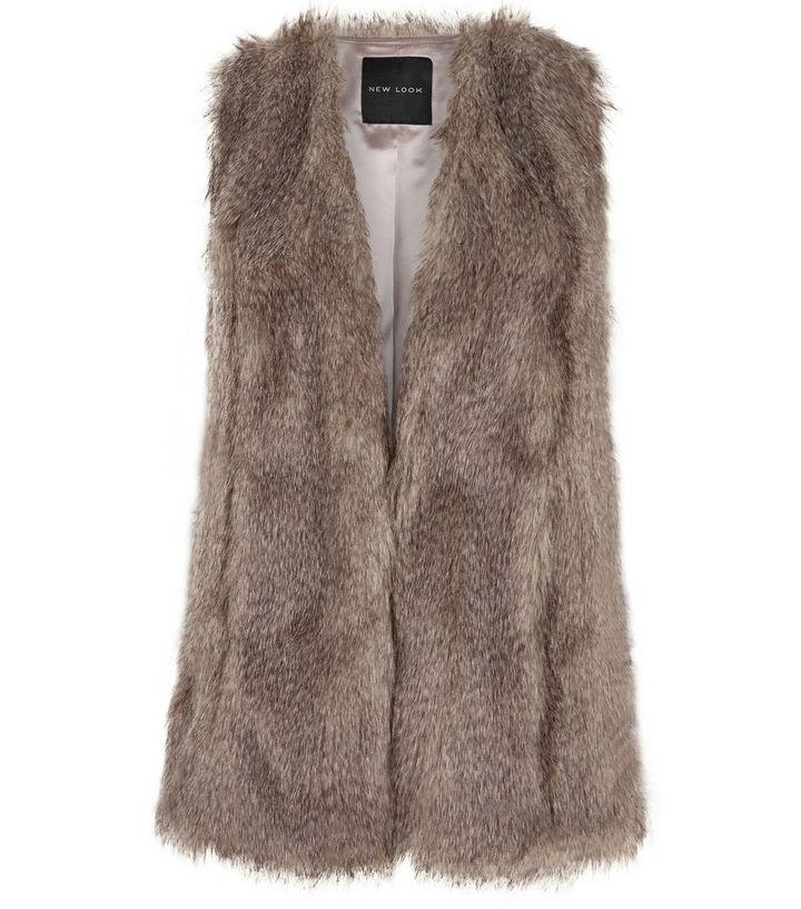 0e6932658b2b8 Light Brown Faux Fur Gilet