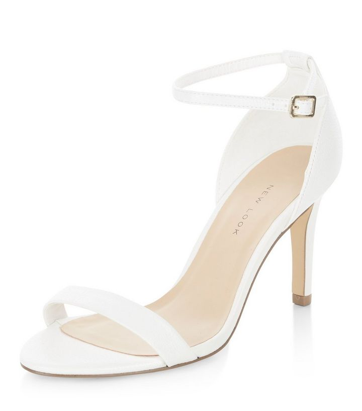 search for newest great quality another chance Wide Fit White Ankle Strap Heels Add to Saved Items Remove from Saved Items