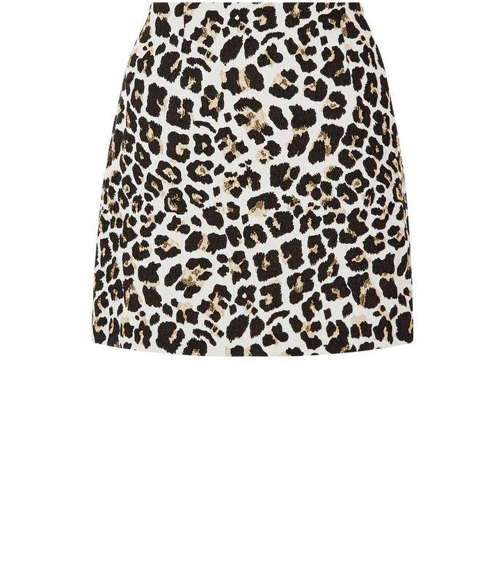 6192f2f3ca50f4 Brown Leopard Print Jacquard A-Line Skirt | New Look