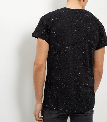Black Spray Wash T-Shirt New Look