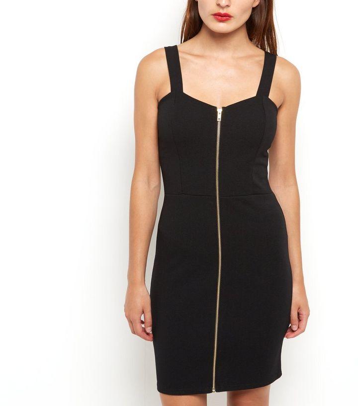 b351ee0016c4 ... Black Zip Front Bodycon Mini Dress. ×. ×. ×. Shop the look