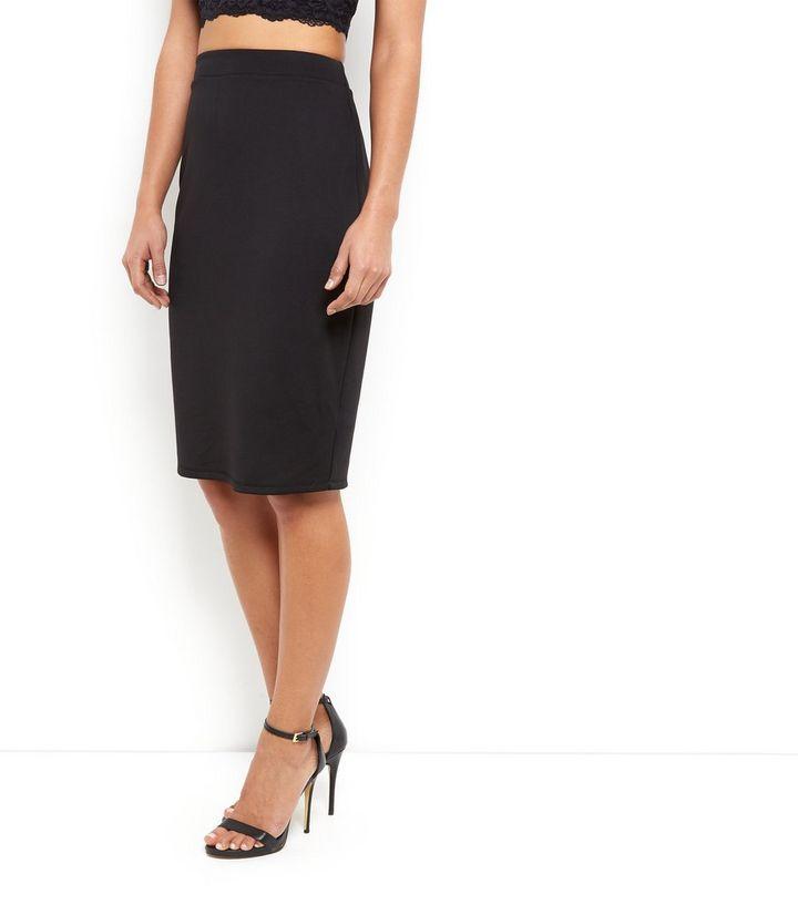 67a5b457ab ... Black Scuba High Waisted Pencil Skirt. ×. ×. ×. Shop the look