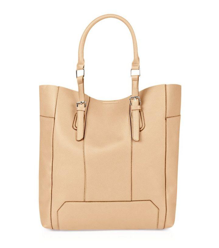 82ab487980ffd Camel Panelled Shopper Bag