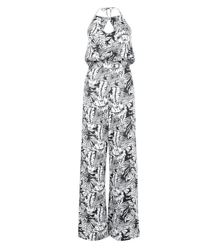 0b9ab4b484a Cameo Rose Black Floral Print Keyhole Jumpsuit