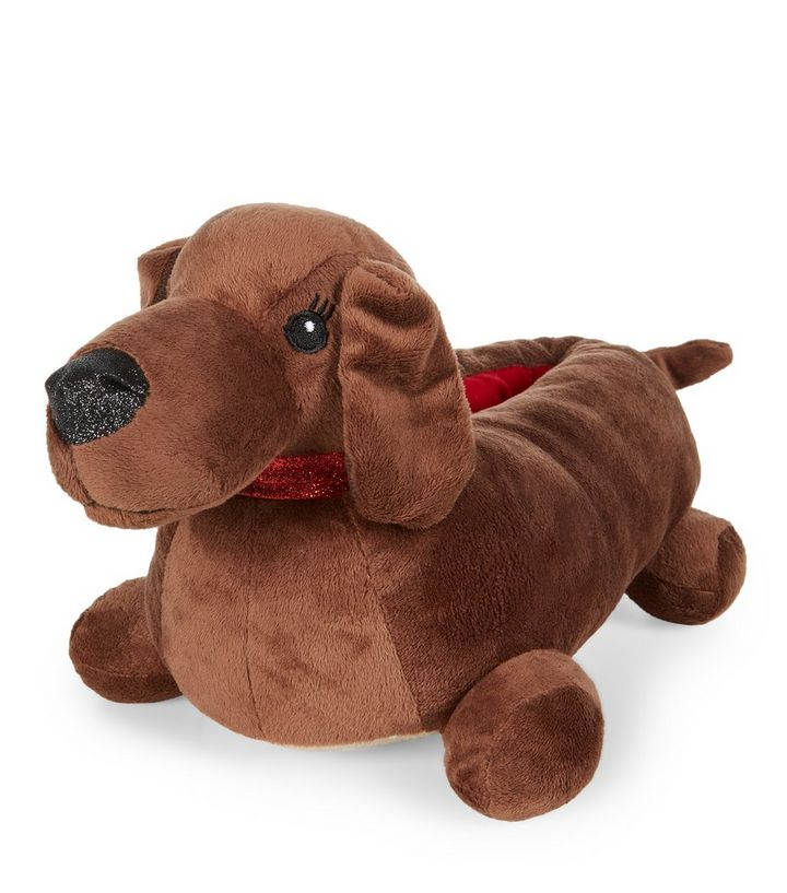 c9f573383085 Brown Sausage Dog Slippers