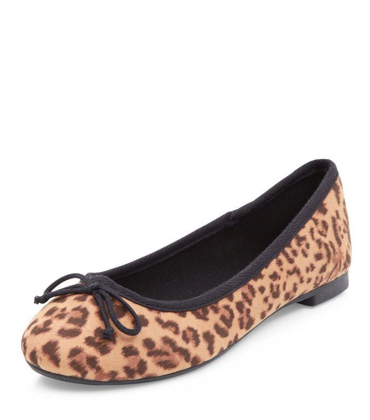 leopard print ballerina pumps