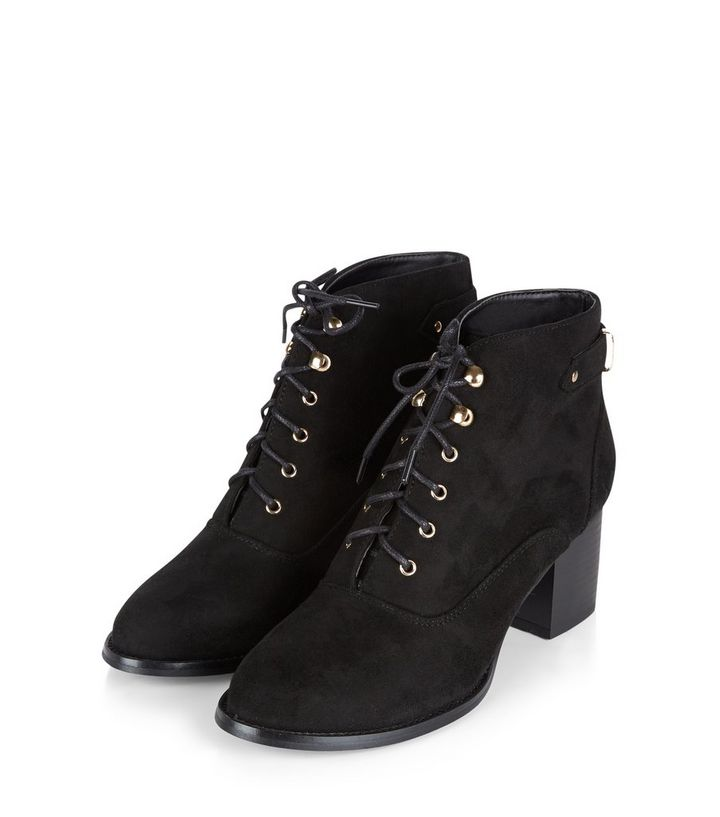 347c8c31b985 ... Teens Black Lace Up Block Heel Ankle Boots. ×. ×. ×. VIDEO Shop the look