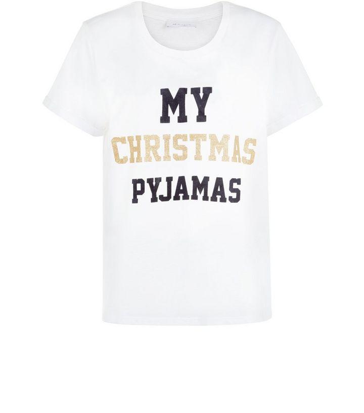 5d22a20dc2 White My Christmas Pyjamas Print Pyjama Top