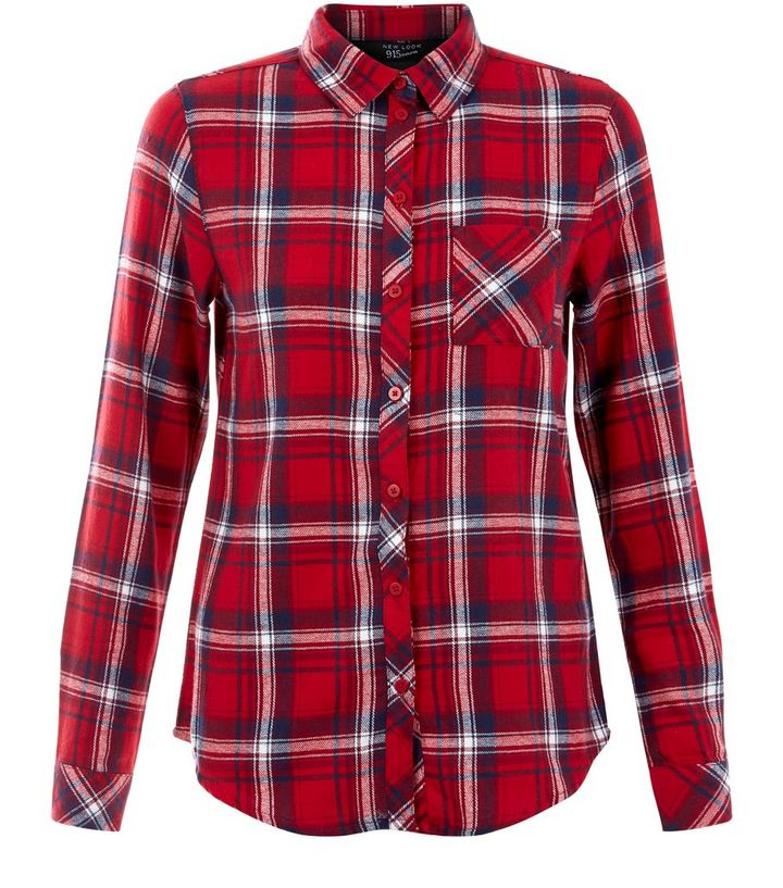 0eedf37c007c6d Teens Red Checked Long Sleeve Shirt