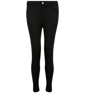 Petite 28in Black Supersoft Super Skinny Jeans New Look