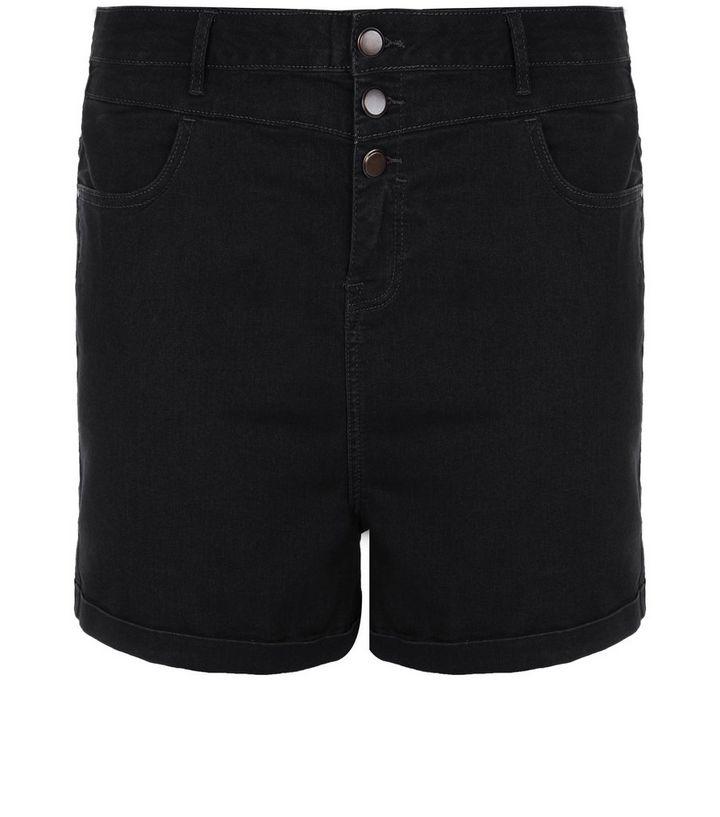 26e5fb372 Curves Black High Waisted Denim Shorts | New Look