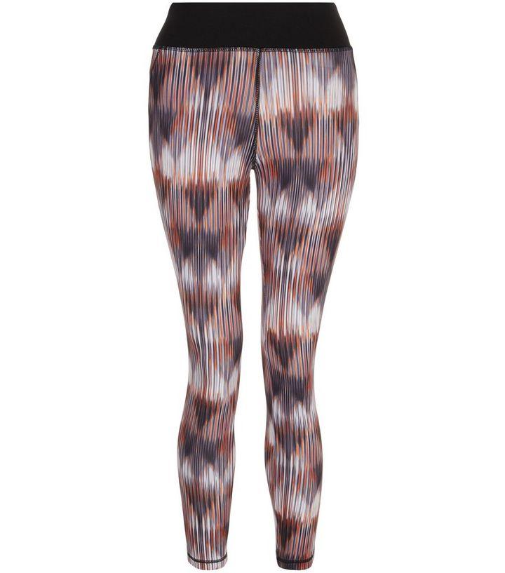 1acce87f5eb86 Petite Orange Abstract Print Sports Leggings | New Look