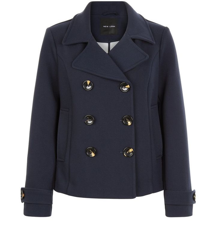 various design big discount sale enjoy clearance price Navy Short Pea Coat Add to Saved Items Remove from Saved Items