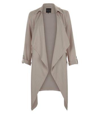 Mink Waterfall Duster Coat New Look