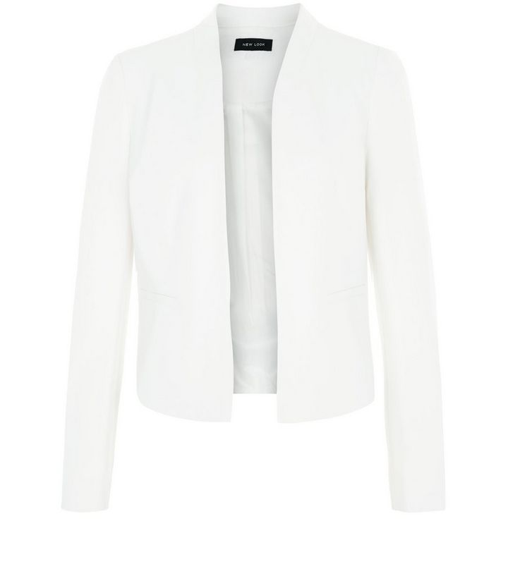 6c6f665971d87 White Cropped Blazer | New Look