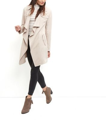 Coat Trench Waterfall New Look Stone Tall Fwtvnq8nU