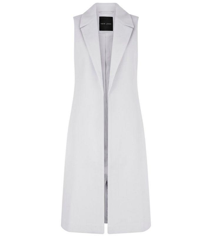 44baec5d1 Grey Longline Sleeveless Coat