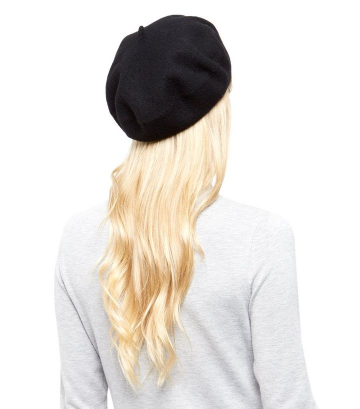 144616095 Black Felt Beret Add to Saved Items Remove from Saved Items