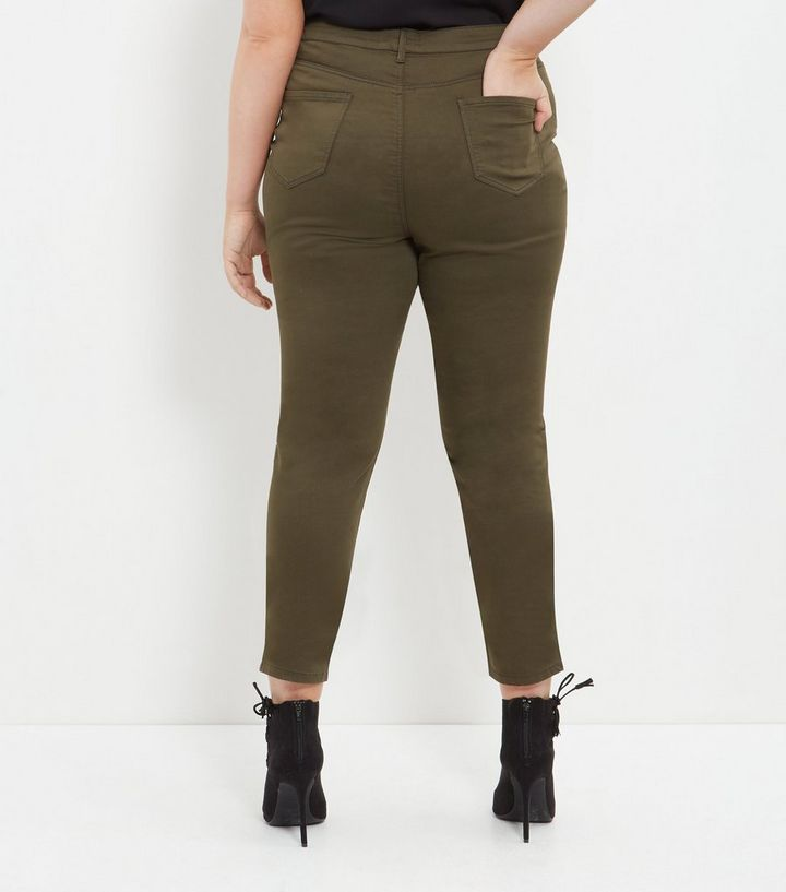 019f976127a ... Plus Size Khaki Skinny Jeans. ×. ×. ×. Shop the look