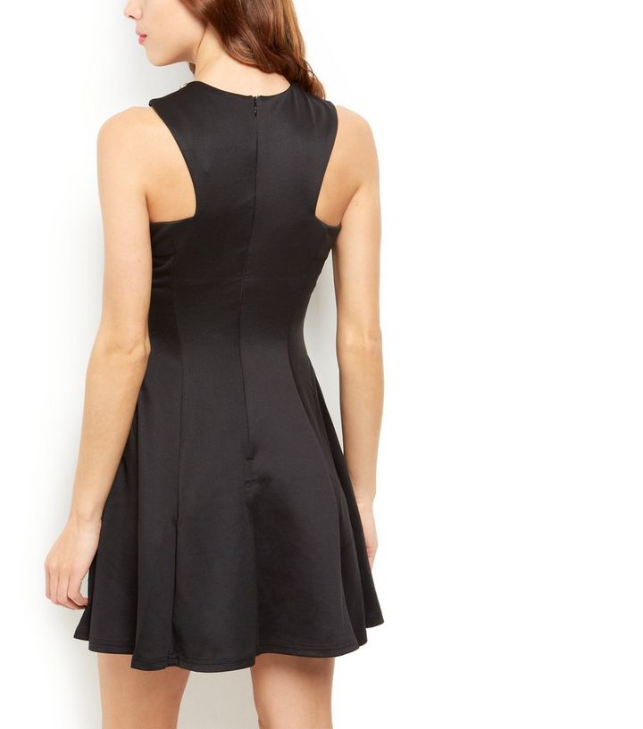 517a46c99c ... AX Paris Black Embellished Neck Skater Dress. ×. ×. ×. Shop the look