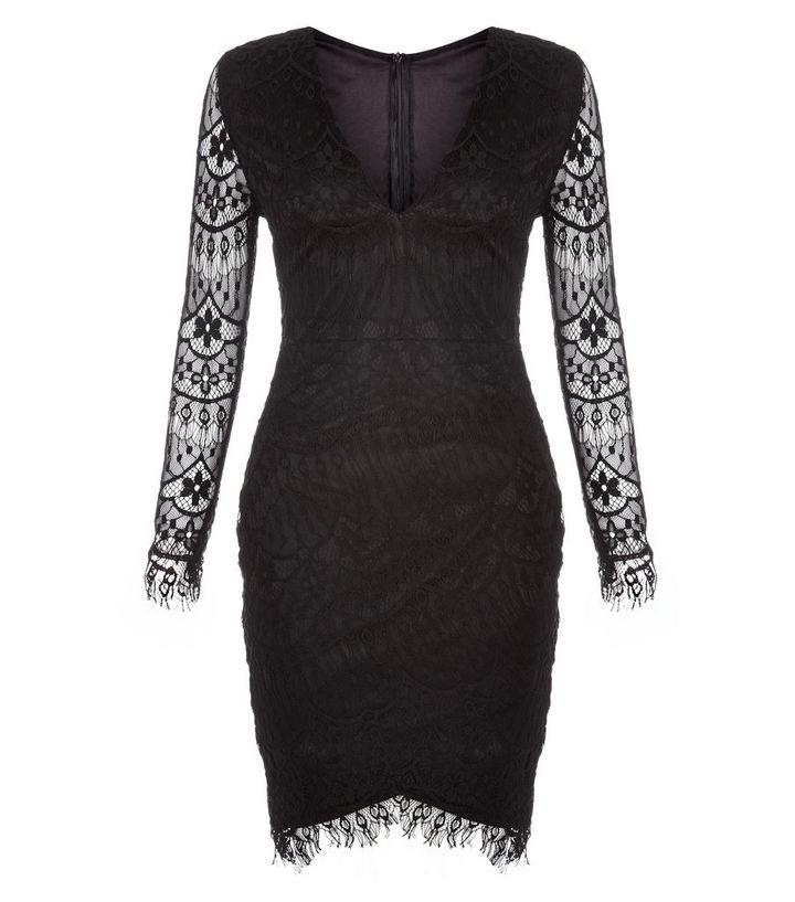 89d2f277602 AX Paris Black Lace Bodycon Dress