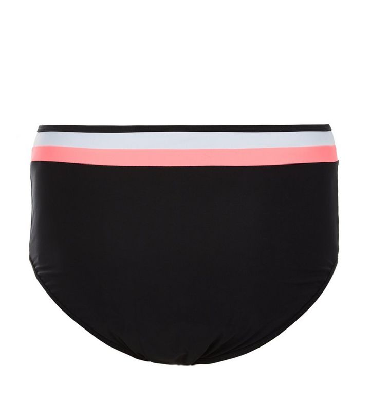 e9e6b0d770f Curves Black Contrast Trim High Waisted Bikini Bottoms Add to Saved Items  Remove from Saved Items