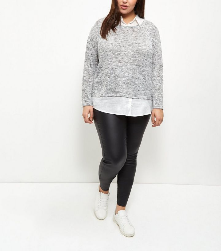 a3d896eb5a5 ... Curves Grey 2 in 1 Shirt Jumper. ×. ×. ×. Shop the look