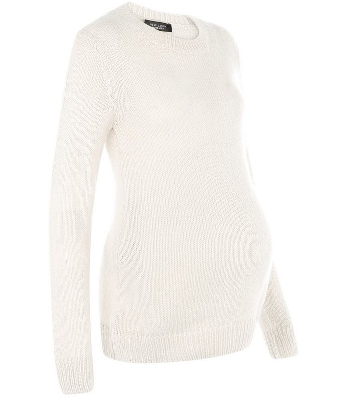 dbe565049246 Maternity Cream Knitted Jumper