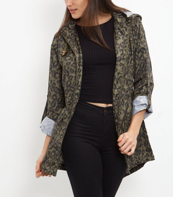 4b3d53b54497 ... Brave Soul Khaki Leopard Print Trench Coat. ×. ×. ×. Shop the look