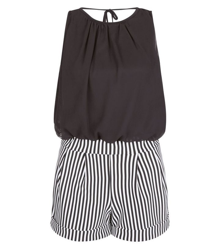 aa826014b195 Cameo Rose Black Stripe 2 in 1 Playsuit