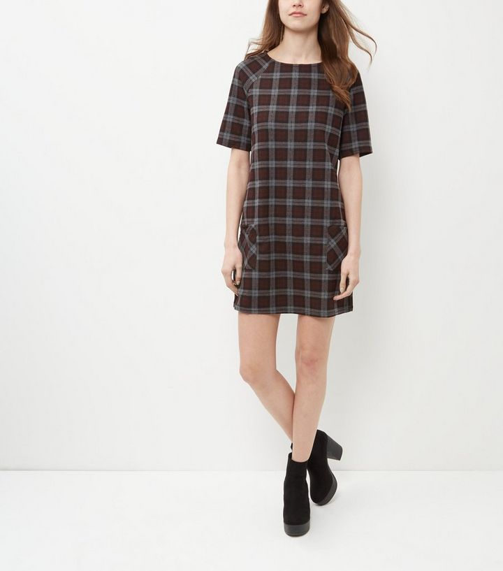 d66e58ff233 ... Red Check Double Pocket Tunic Dress. ×. ×. ×. Tap image to zoom in.  Shop the look