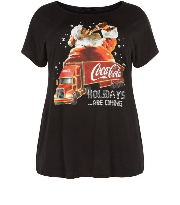 263a29e99d5 Plus Size Coca Cola Truck Christmas T-Shirt