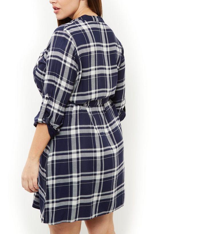 2a3e29be719 ... Plus Size Blue Check Grandad Collar Shirt Dress. ×. ×. ×. Shop the look