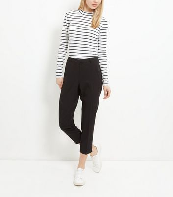 Blacked Cropped Slim Leg Trousers New Look