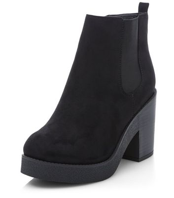 Womens Wide Fit Block Heel Chelsea Ankle Boots