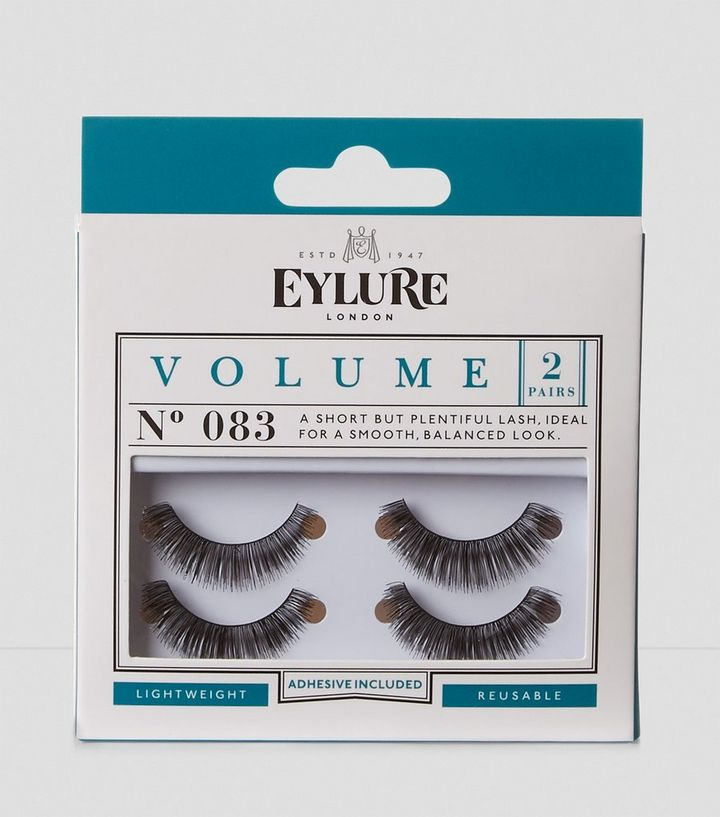 2e171a27209 2 Pack Eylure Black Volume 083 False Eyelashes | New Look
