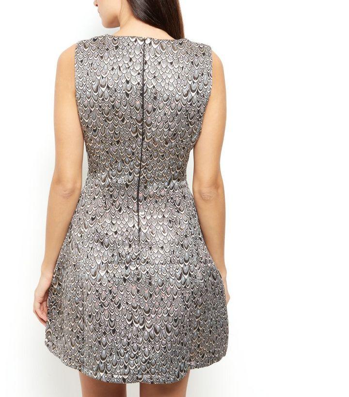... AX Paris Silver Abstract Print Metallic Skater Dress. ×. ×. ×. Shop the  look 560994f38