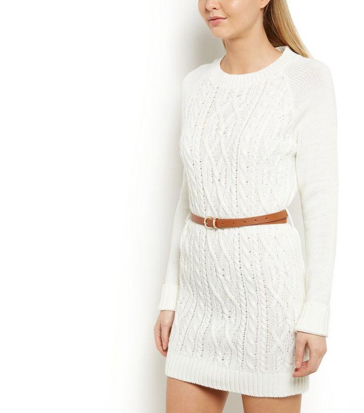 f144c3bd37 Cameo Rose Cream Knitted Jumper Dress