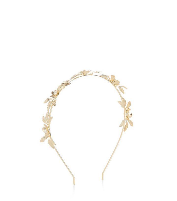 chaussure dernières tendances de 2019 nouveaux prix plus bas bandeau pour cheveux doré à fleurs en 3D Ajouter à la Wishlist Supprimer de  la Wishlist