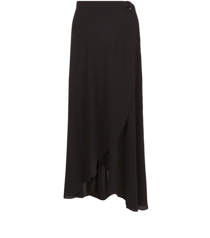 d9a2c2eda8 Black Wrap Maxi Skirt | New Look