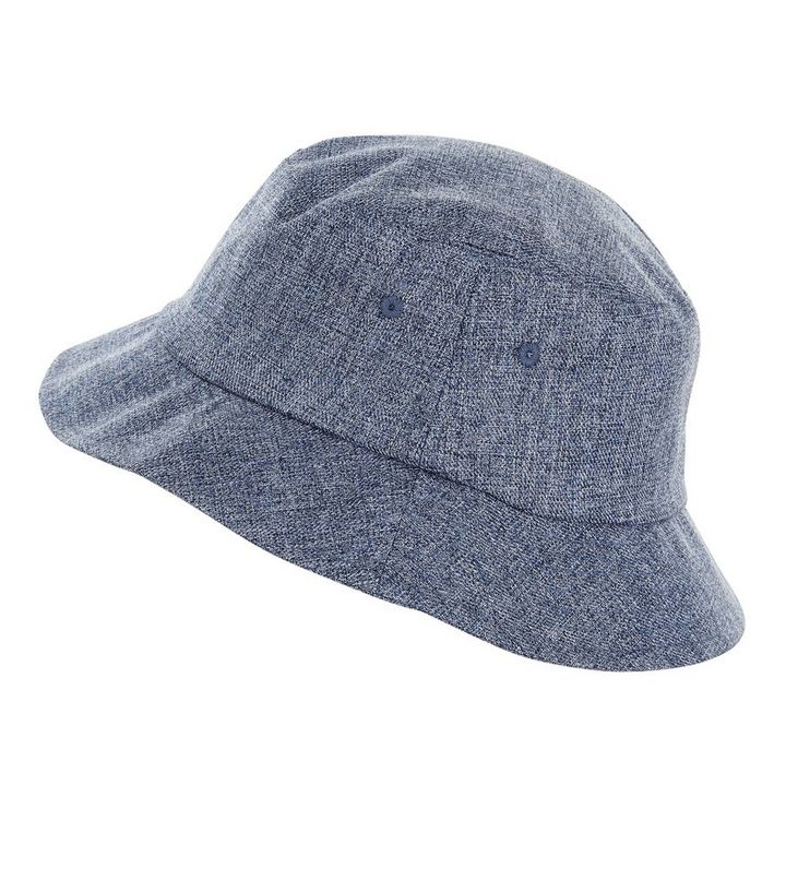 3fb53b89291 Blue Textured Bucket Hat