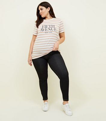 Curves Black High Waisted Jeggings New Look