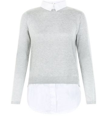 ladies 2 in 1 shirt jumper