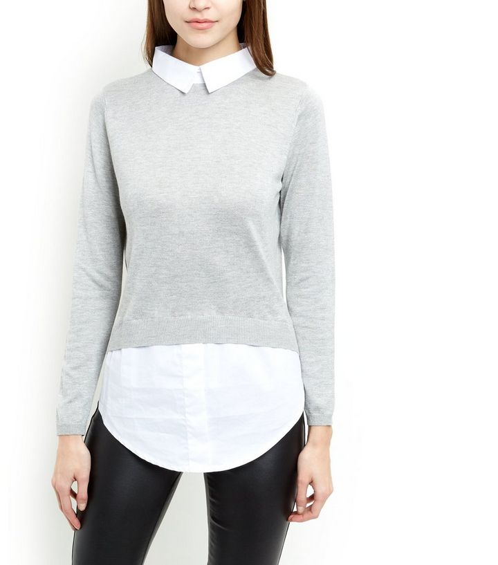 4b86ad8357b ... Cameo Rose Grey 2 in 1 Shirt Jumper. ×. ×. ×. Shop the look