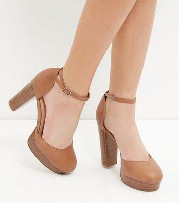 Für Schuhe Mit Und Artikeln Hellbraune Blockabsatz Gespeicherten Entfernen Von Speichern Später Knöchelriemen q3Rc54ALj