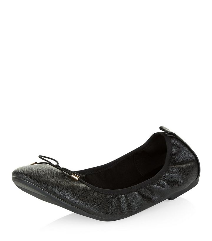 fd651dd679b Wide Fit Black Elasticated Ballet Pumps Add to Saved Items Remove from  Saved Items