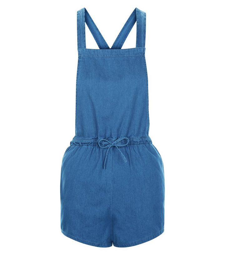 e77e9e448c98 Blue Denim Tie Waist Playsuit
