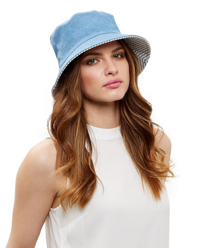 887d43b43 Blue Washed Denim Bucket Hat Add to Saved Items Remove from Saved Items