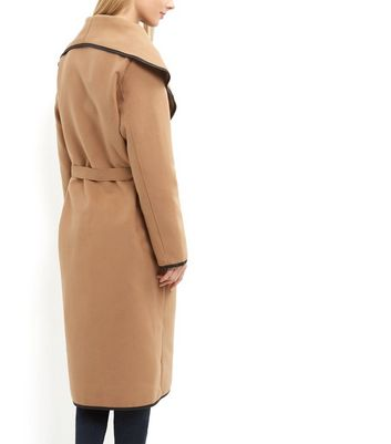 Cameo Rose Camel Belted Maxi Coat Add to Saved Items Remove from Saved Items